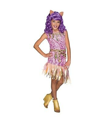Rubies Haunted Monster High Pink Gold Clawdeen Wolf Costume Dress up M 8/10  (Monster High Dress Up Clawdeen Wolf)
