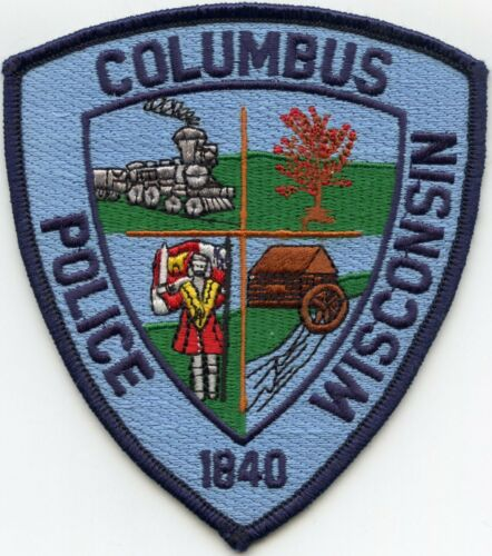 COLUMBUS WISCONSIN WI Train POLICE PATCH