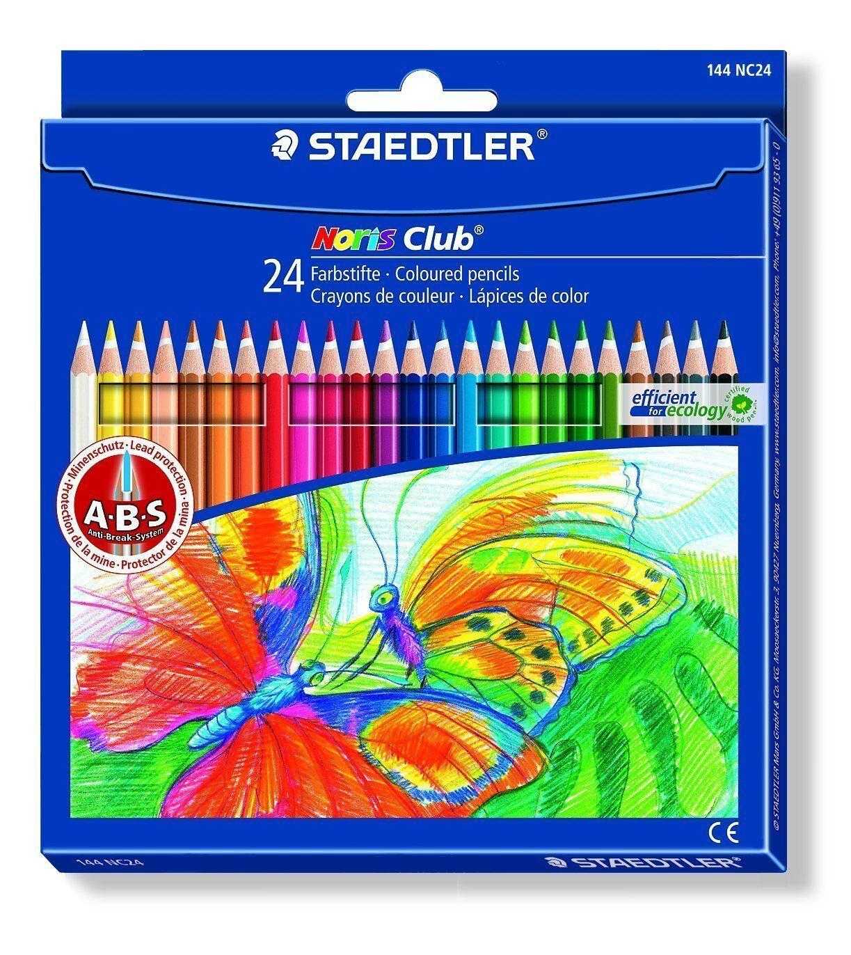 STAEDTLER Buntstift Noris Club  24er Kartonetui sechseckige Buntstifte