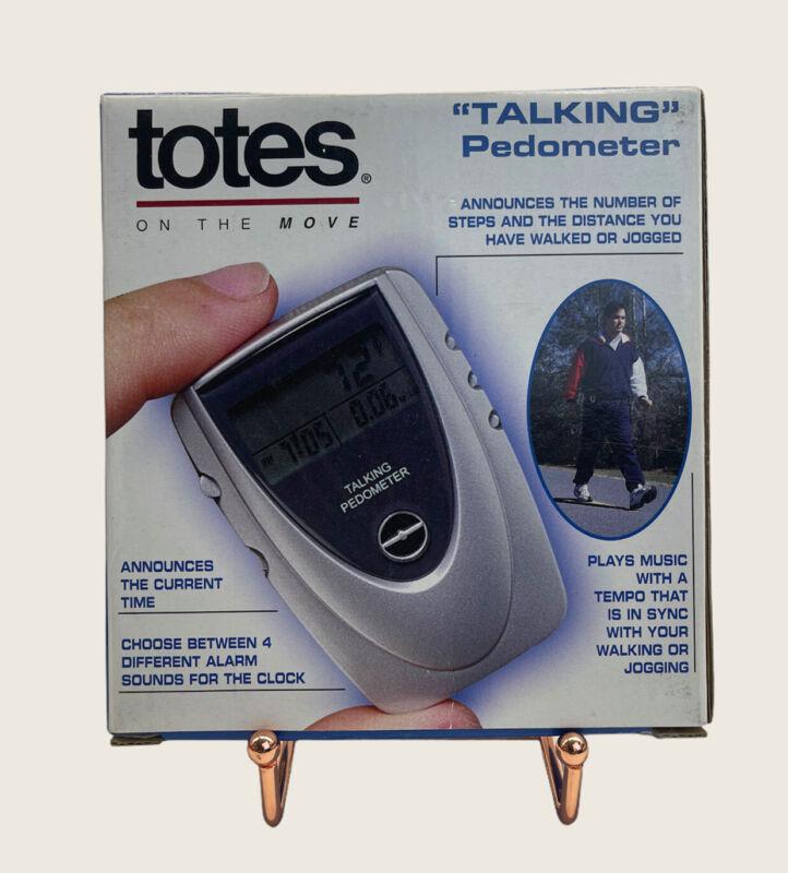 Totes Talking Pedometer 73514 with Built in Alarm Clock & Musical Tones