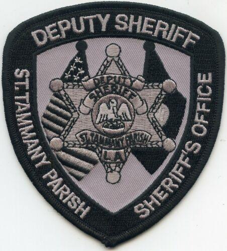 SAINT ST TAMMANY PARISH LOUISIANA subdued DEPUTY SHERIFF POLICE PATCH