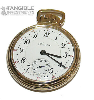 Hamilton 10k Gold Filled 23 Jewel  Pocket Watch Model #950 Circa 1916 (3810)