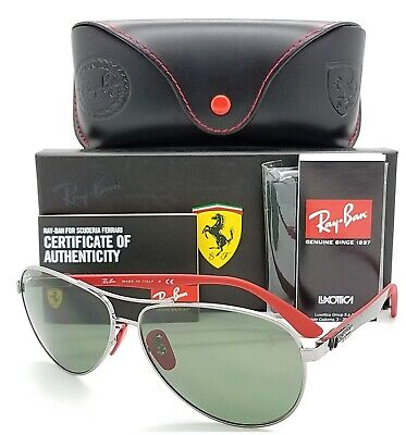 NEW Rayban Ferrari sunglasses RB8313M F00171 Green Classic Aviator Carbon (Aviator Carbon Fiber)
