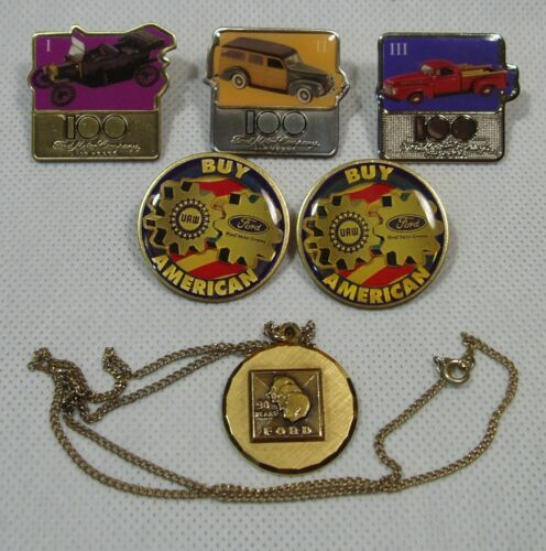 Ford Motor Company.  Lot of 6 Collectible Pins, Pendant