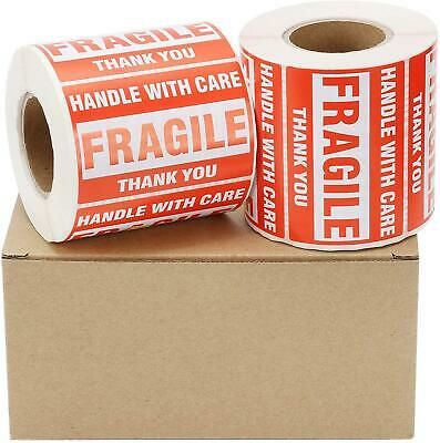 1000 Fragile Stickers 2 X 3 Handle Care Shipping Label Sticker 500 Permanent