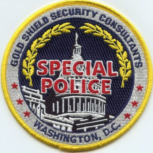 GOLD SHIELD SECURITY CONSULTANTS WASHINGTON DC SPECIAL POLICE PATCH