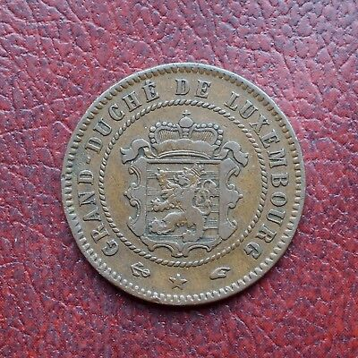 Luxembourg 1860A bronze 5 centimes