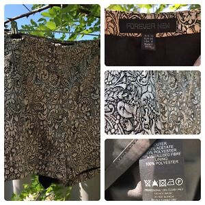 Forever New - Floral Gold Shorts Maylands Bayswater Area Preview