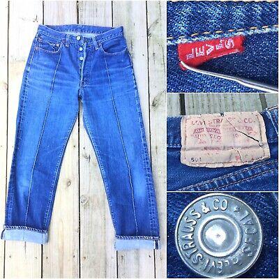 c84e07b66d0 LEVIS 501 XX Jeans RARE #4 True Vintage 60s Selvedge Red Big E Single Stitch