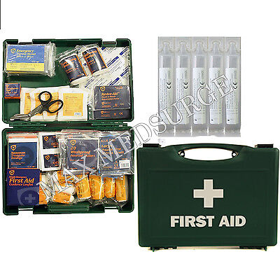 1-50 Person HSE First Aid Kits, Refill Kit, Workplace Eye Wash, Dressings, CE