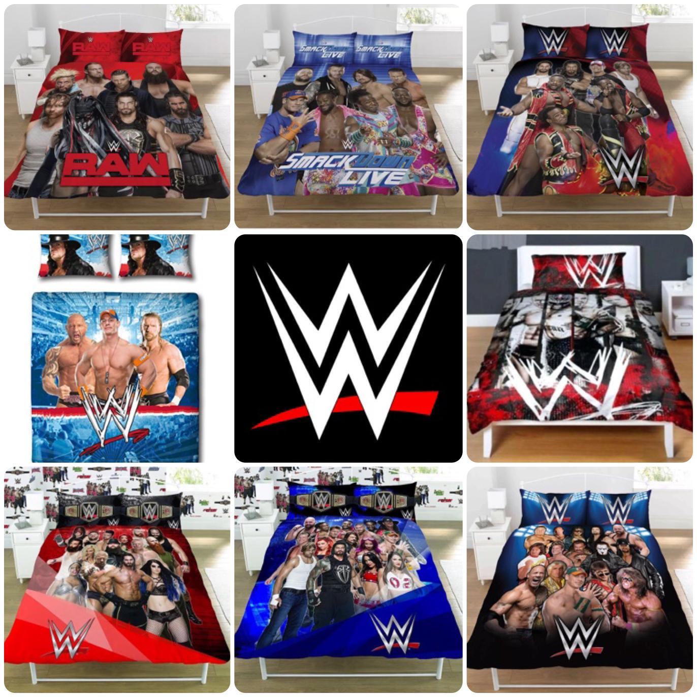 WWE Legends Wrestling Face vs Heel Smackdown Raw Bedding Set
