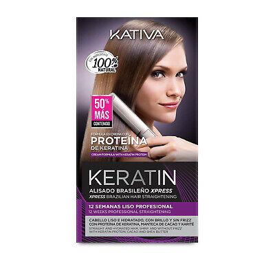 KATIVA Alisado Brasileño de Pelo Hidratante con Keratina y Aceite de Argán