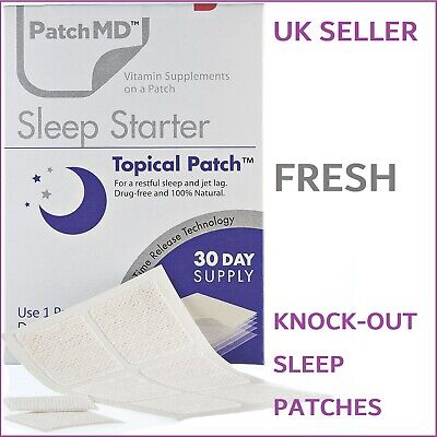 PatchMD Sleep Starter Topical Patch Sleeping & Jetlag Patches Aid Tablets Klova