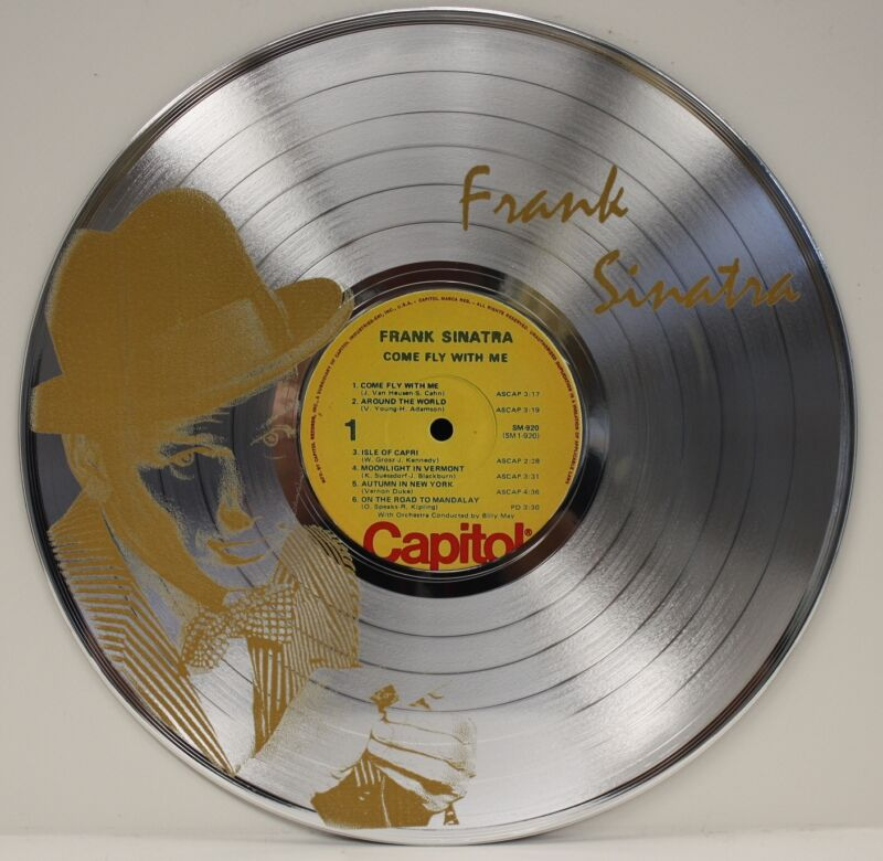 Frank Sinatra LTD Edition Laser Etched Image LP Record Wall Art