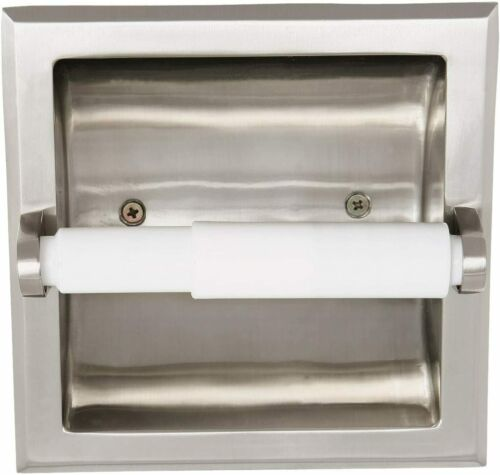 Design House 539189 Millbridge Recessed Toilet Paper Roll Holder - Satin Nickel