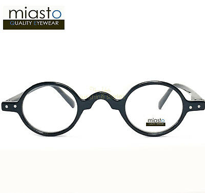 (2 PAIRS) MIASTO MINI SMALL ROUND OVAL READERS READING GLASSES+1.00 (2 COLORS)