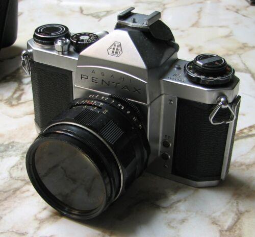 Pentax 35mm SLR - Asahi SV with 4 lenses