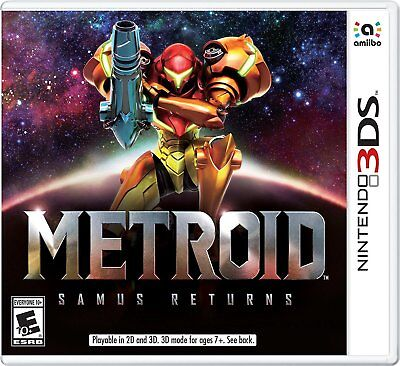Metroid  Samus Returns  Nintendo 3Ds  N3ds  Ntsc  Side Scroller  Action  New