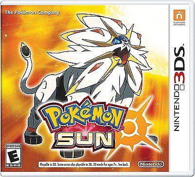 3Ds  Pokemon Sun For Nintendo 3Ds Pok Mon Sun Brand New