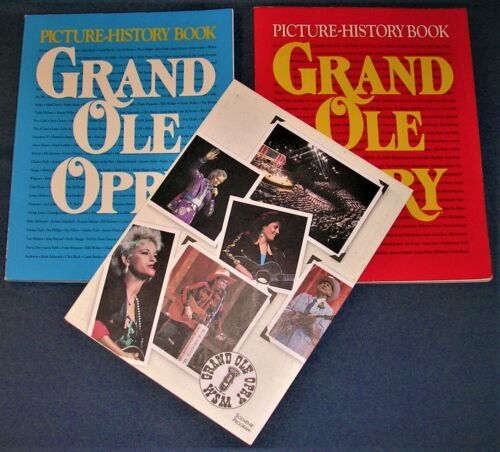 2 GRAND OLE OPRY PICTURE HISTORY BOOKS FROM 1992 & 1994 + 1994 SOUVENIR PROGRAM!