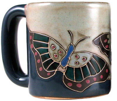 Mara Stoneware Mug - Butterfly Blue  (One Mug) 16 oz - Round Bottom (510U8)
