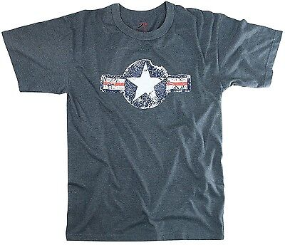 Vintage Army Air Corp Retro Blue T-Shirt Tee Shirt S-3XL  Army Air Corp Blue T-shirt