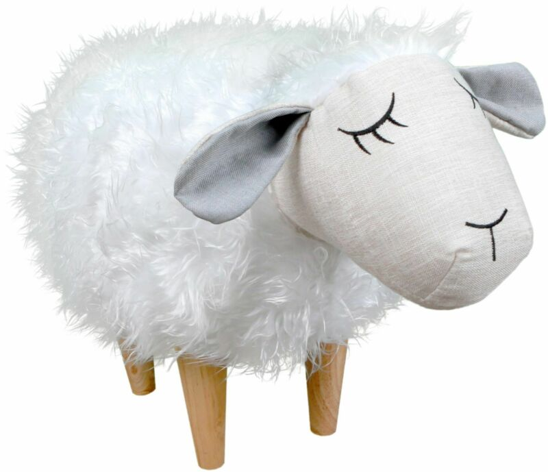 Karla Dubois - Sheepy the Sheep Kids Stool - Off-White