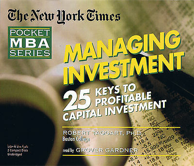 Managing Investment: Ny Times Mba Series (ll240) - 2 Cds - - Free Shipping