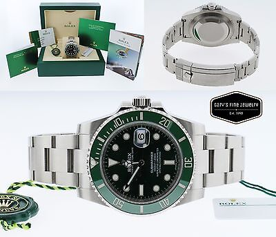 Rolex Submariner 116610LV 40MM SS Date Green Dial Box & Papers Men's Watch *NEW*