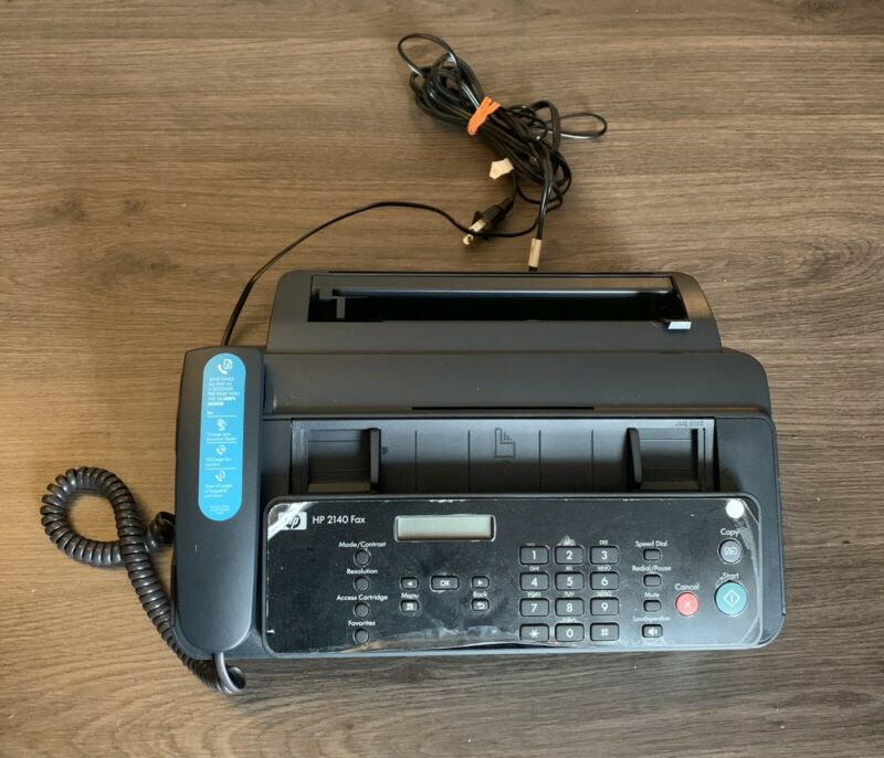 HP 2140 Fax Professional Quality Plain Paper Fax Machine Copy Phone *Needs Ink*
