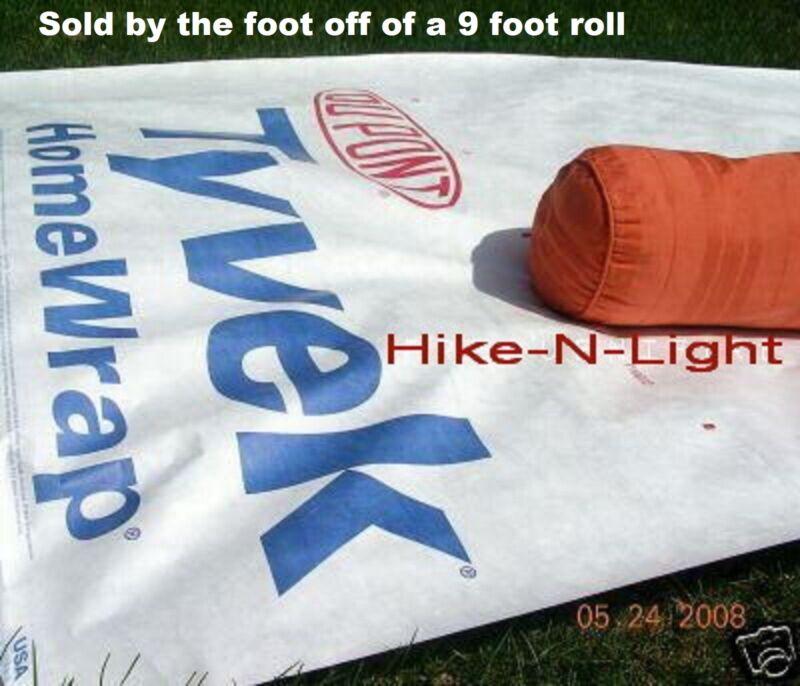 TYVEK- per/foot - Ground Cloth sheet-Tent Footprint-Camping Tarp w/ ANCHOR LOOPS