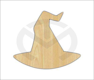 Unfinished Wood Witch Hat Laser Cutout, Wreath Accent, Door Hanger, Halloween](Door Hangers Halloween)