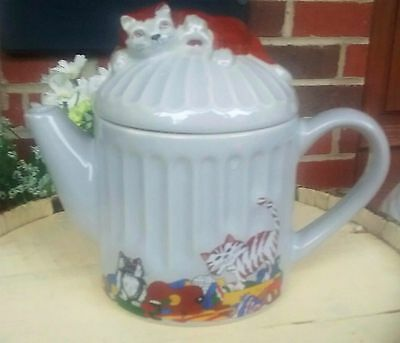 Kitty Cat Teapot Feline Collection Judith Wootton Whimsical - Wade England