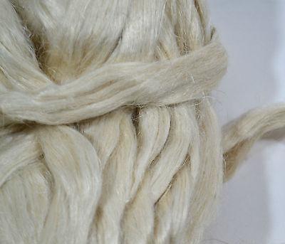 100 % Hanf Kammzug  naturweiß, Hanf im Band für filzen und spinnen 100 g