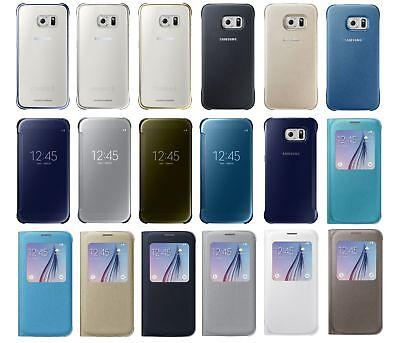 Купить New 100% Original Samsung Galaxy S6 Protective / S-View / Wallet Flip Cover Case