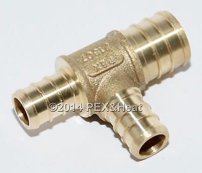 25 34 X 12 X 12 Pex Tee Brass Crimping Fittings