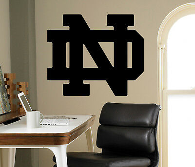 Notre Dame Fighting Irish Wall Decal College Football NCAA Vinyl Sticker (27nc)