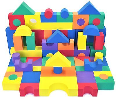 70 Piece Non-Toxic Non-Recycled Quality Soft Foam Wonder Blocks for - Foam Blocks For Kids