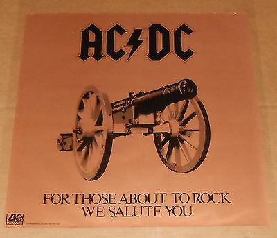 AC/DC For Those About to Rock Poster Original Promo 24x24 (cannon)
