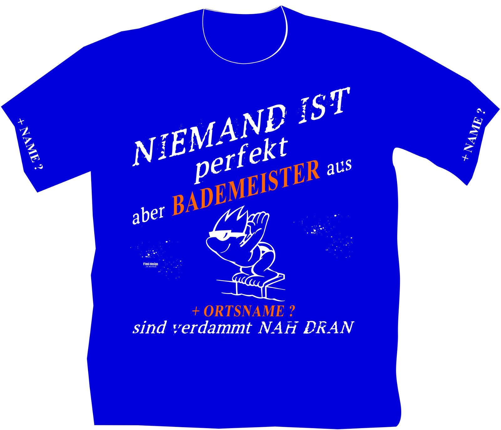 Schwimmmeister Bademeister T-Shirt Rettungsdienst Wunschname Schwimmhalle 21