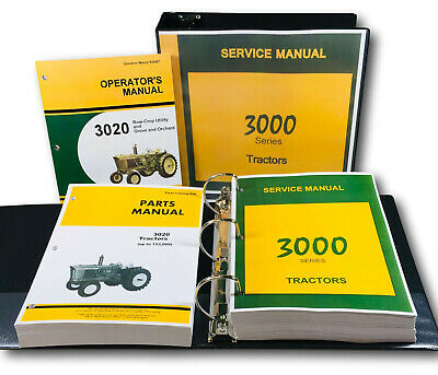 Service Operators Parts Manual Set For John Deere 3020 Tractor Sn Up To 123000