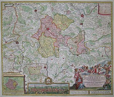 Episcopatus Hildesiensis - Bistum Hildesheim - Johann Baptist Homann - 1738