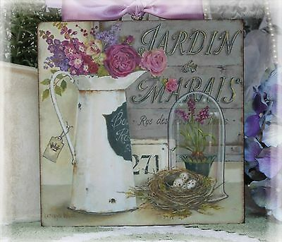"~ ""JARDIN..."" Shabby Chic Select Country Cottage style ~ Wall Decor Sign ~"