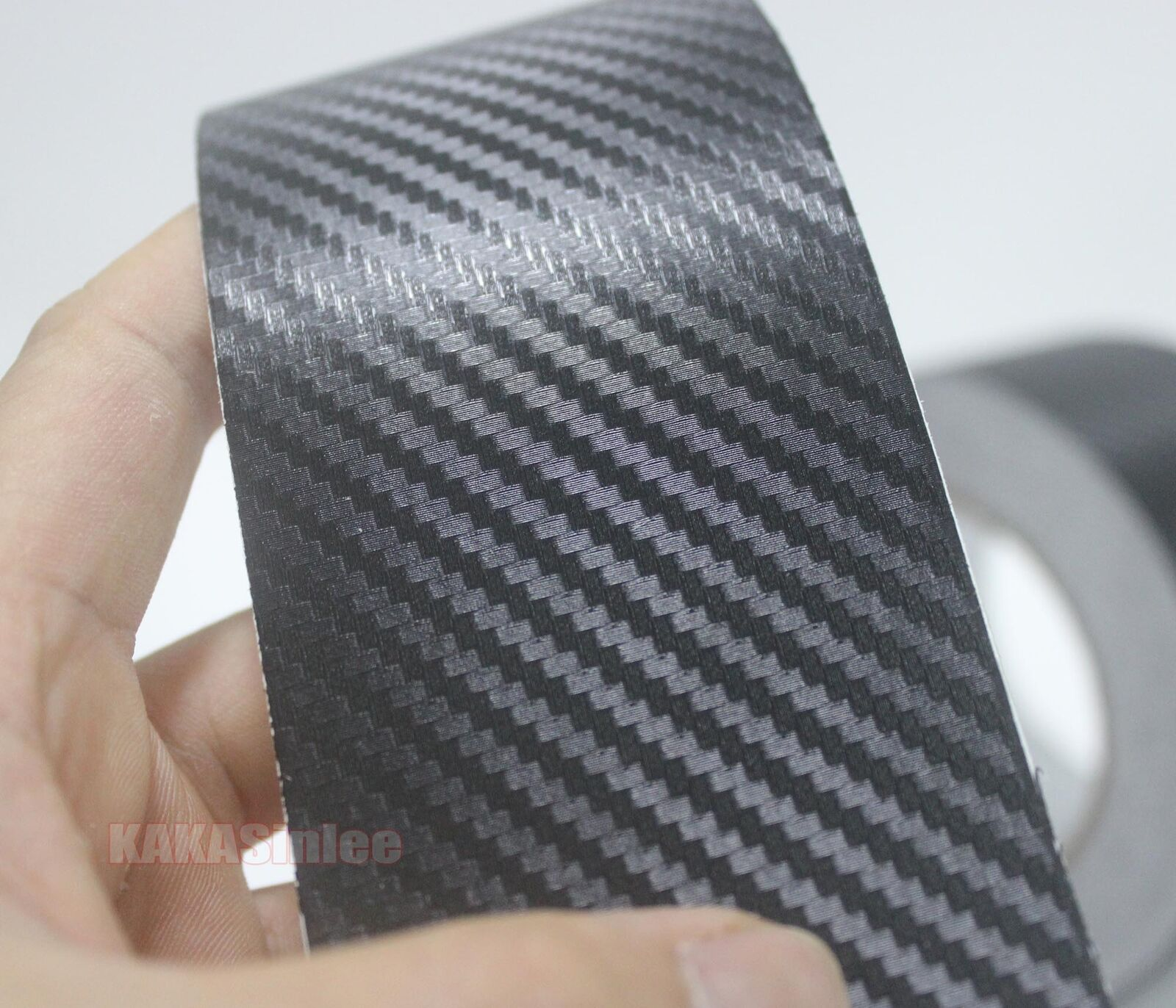 Diy Adhesive Vehicle Black 3d Texture Carbon Fiber Vinyl