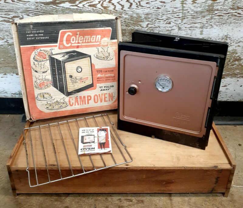 Coleman Folding Camp Oven 5010A700 with Original Box, Rack and Instructions