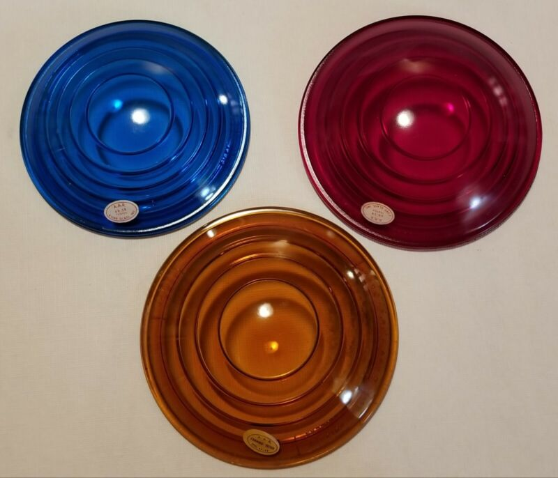 Lot Of Three Vintage Kopp & Corning Glass Railroad Lenses