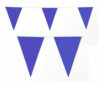 Bunting Purple 20 Flags 10 Metres 32 Feet Long Pennant Banner Plastic UK Gothic ()