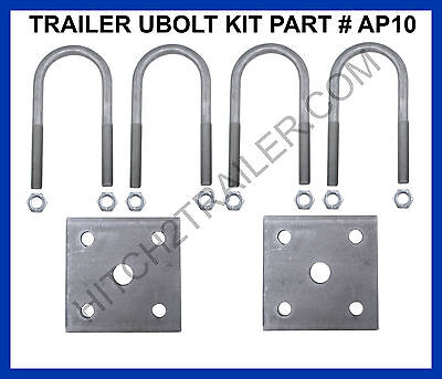 "Trailer U-Bolt Kit Round 2000lb Round Trailer Axles 1-3/4"" x 3/8 X 4-1/4"" AP10"