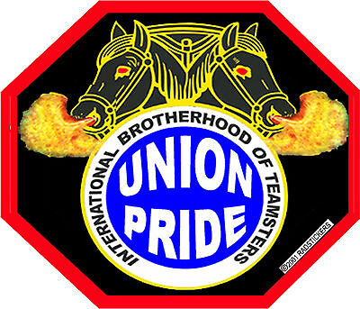 Union Teamster Sticker Ct-4