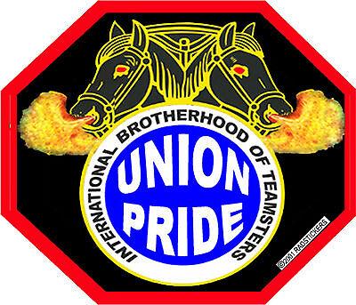 Operator union pride on shield Sticker CO-14